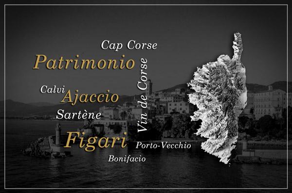 Vins de Corse régions